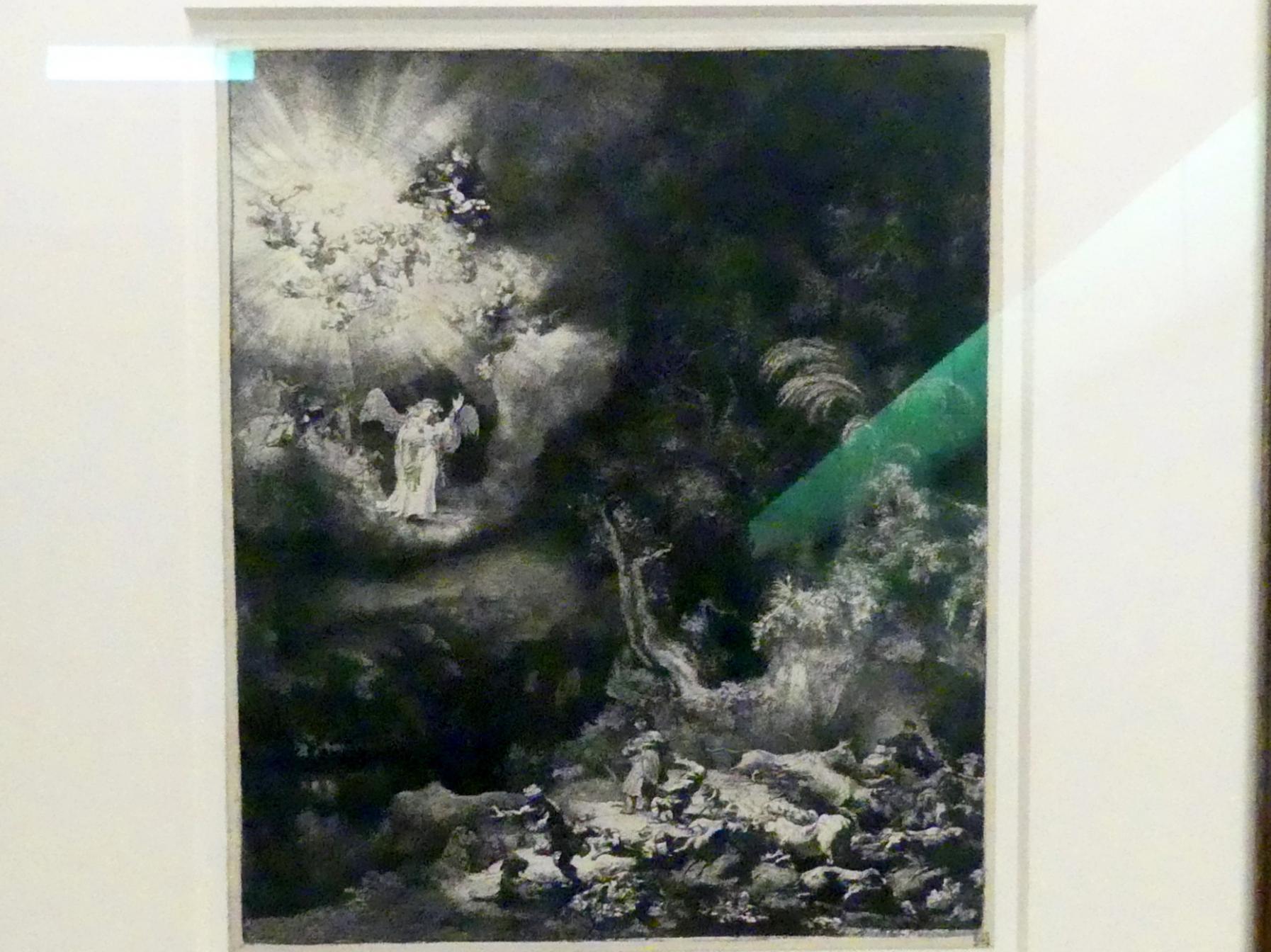 Rembrandt (Rembrandt Harmenszoon van Rijn): Verkündigung an die Hirten, 1634