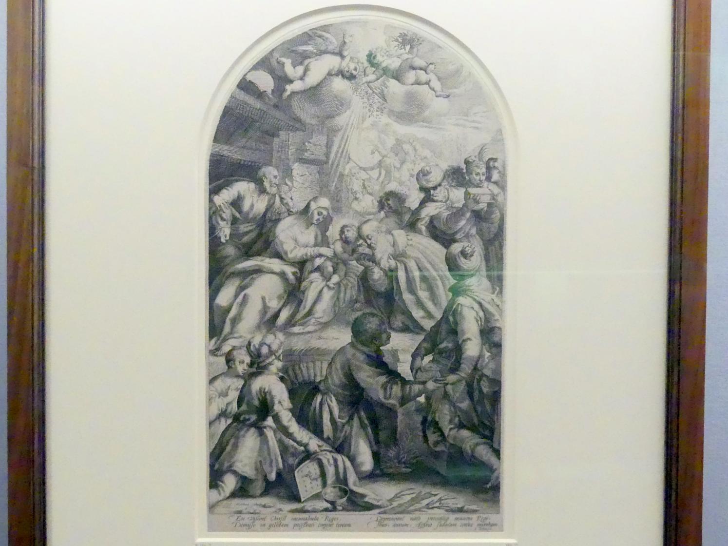 Jakob Matham: Anbetung der Könige, um 1594