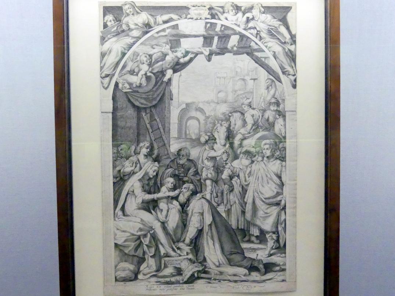 Jakob Matham: Anbetung der Könige, 1595 - 1596