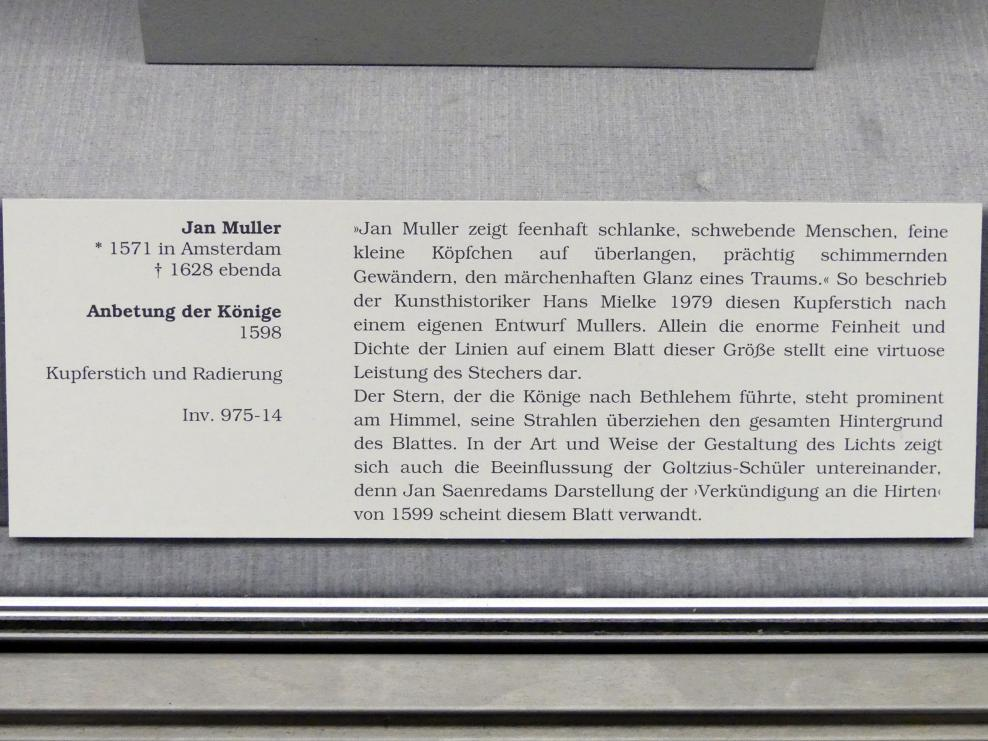 Jan Harmensz Muller: Anbetung der Könige, 1598