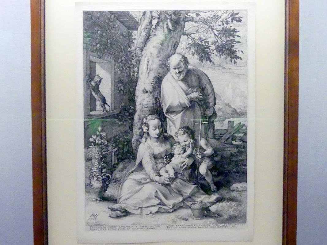 Hendrick Goltzius: Die Heilige Familie mit dem Johannesknaben, 1593