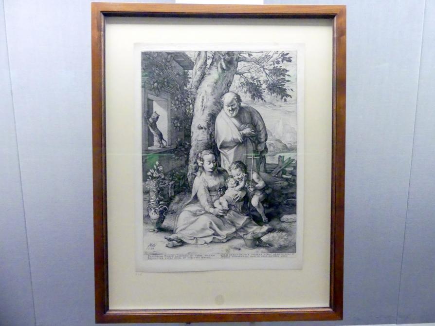 Hendrick Goltzius: Die Heilige Familie mit dem Johannesknaben, 1593, Bild 2/4