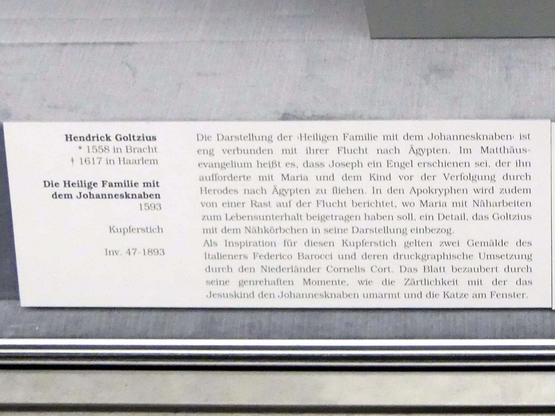 Hendrick Goltzius: Die Heilige Familie mit dem Johannesknaben, 1593, Bild 3/4
