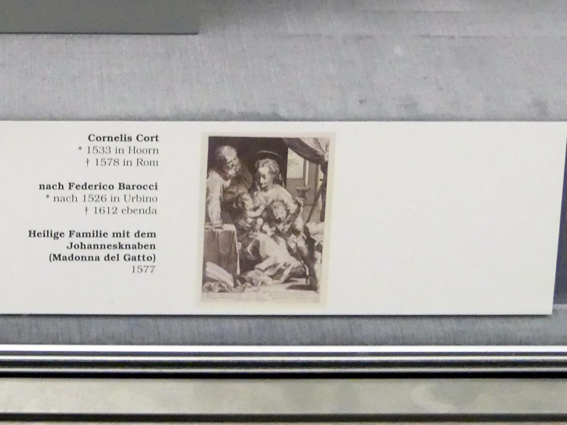 Hendrick Goltzius: Die Heilige Familie mit dem Johannesknaben, 1593, Bild 4/4