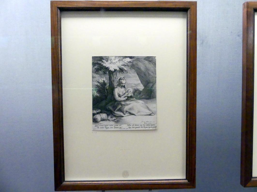 Jan Harmensz Muller: Die Ruhe auf der Flucht nach Ägypten, 1593, Bild 2/3