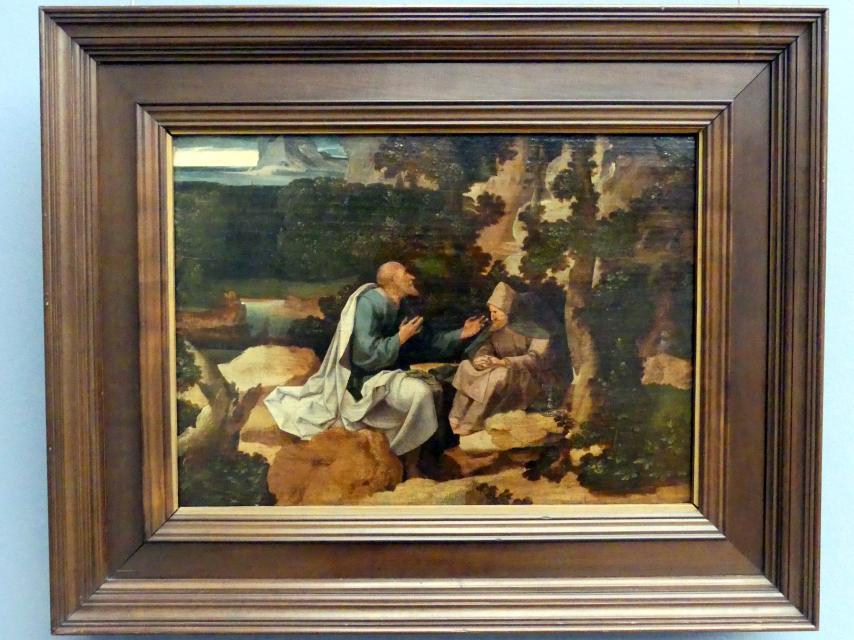 Jan Wellens de Cock: Landschaft mit den Eremiten Paulus und Antonius, Undatiert