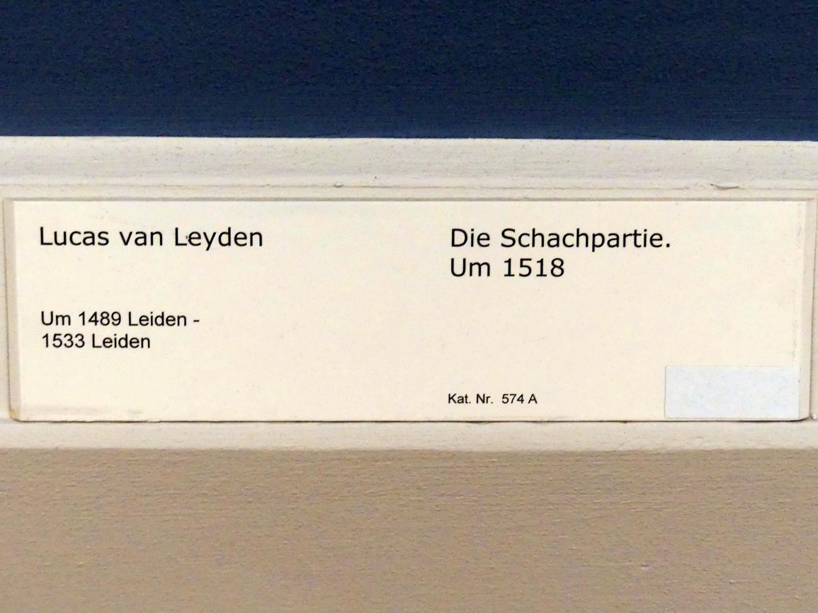 Lucas van Leyden: Die Schachpartie, um 1518, Bild 2/2