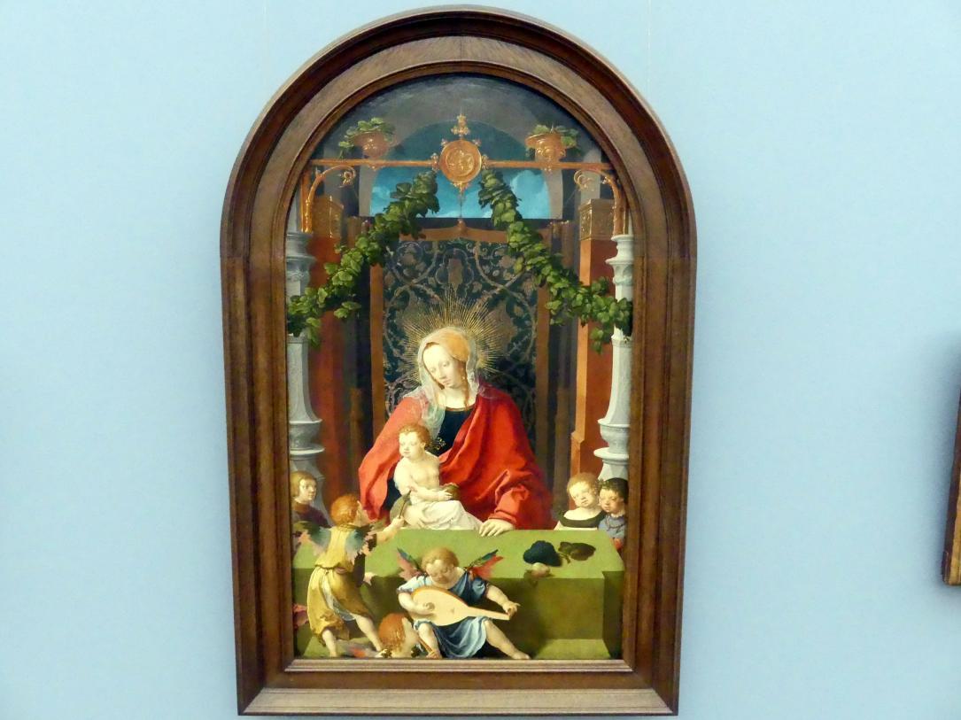 Lucas van Leyden: Maria mit den Engeln, um 1520