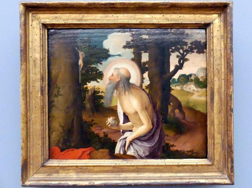 Lucas van Leyden (Werkstatt): Der büßende hl. Hieronymus, Um 1520