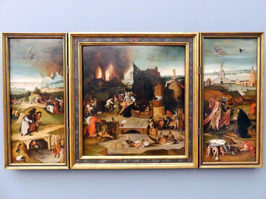 Hieronymus Bosch (Kopie): Flügelaltar mit der Versuchung des hl. Antonius, um 1540