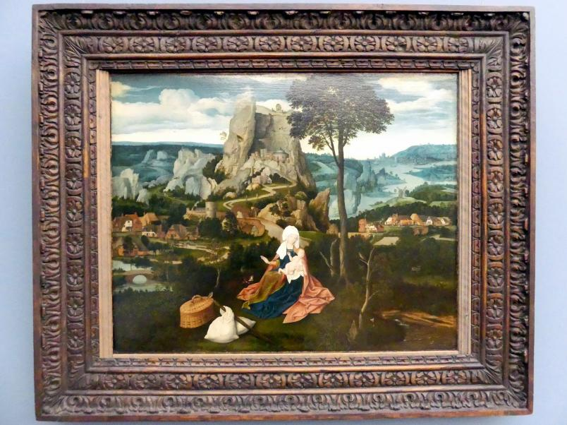 Joachim Patinir (Patenier): Die Ruhe auf der Flucht nach Ägypten, um 1520