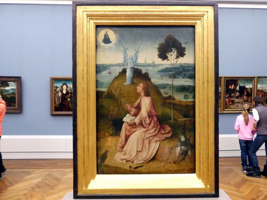 Hieronymus Bosch: Johannes auf Patmos / Die Passion Christi, um 1500
