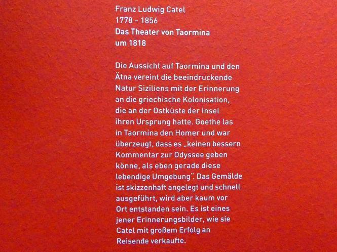 Franz Ludwig Catel: Das Theater von Taormina, um 1818, Bild 2/2