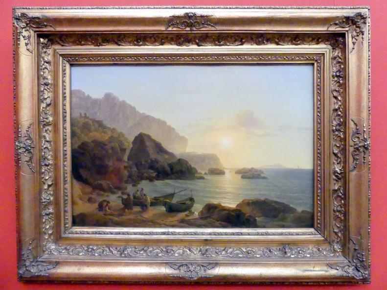 Josef Rebell: Küste von Capri bei Sonnenuntergang, 1817