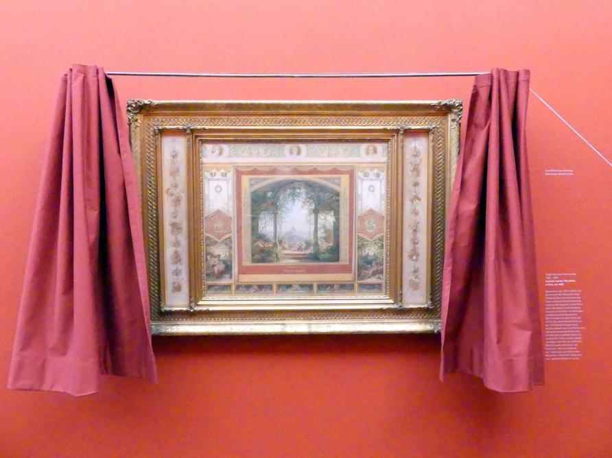 Eugen Napoleon Neureuther: Aussicht von der Villa Malta in Rom, um 1838