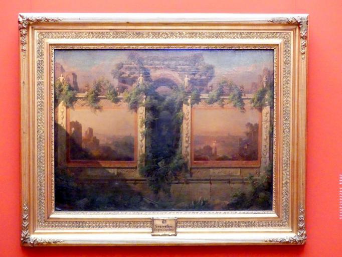 Eugen Napoleon Neureuther: Erinnerung an die Villa Mills in Rom, 1863
