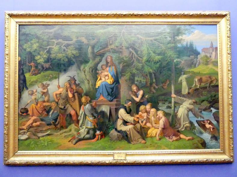 Joseph von Führich: Die Einführung des Christentums in die deutschen Urwälder, 1864