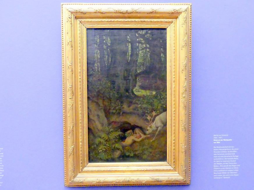 Moritz von Schwind: Nixen an der Waldquelle, um 1846
