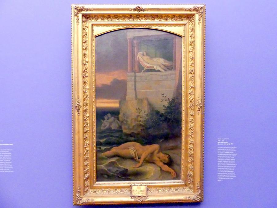 Moritz von Schwind: Hero und Leander (Der Liebe Untergang), 1863