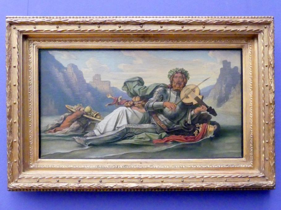Moritz von Schwind: Der Vater Rhein, die Fidel Volkers spielend, Um 1865