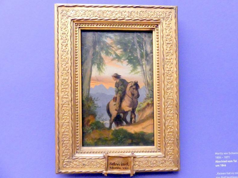 Moritz von Schwind: Abschied vom Tal, Um 1846