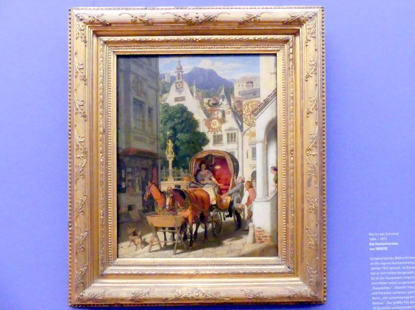 Moritz von Schwind: Die Hochzeitsreise, um 1850 - 1852