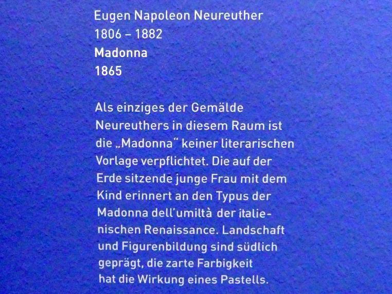 Eugen Napoleon Neureuther: Madonna, 1865