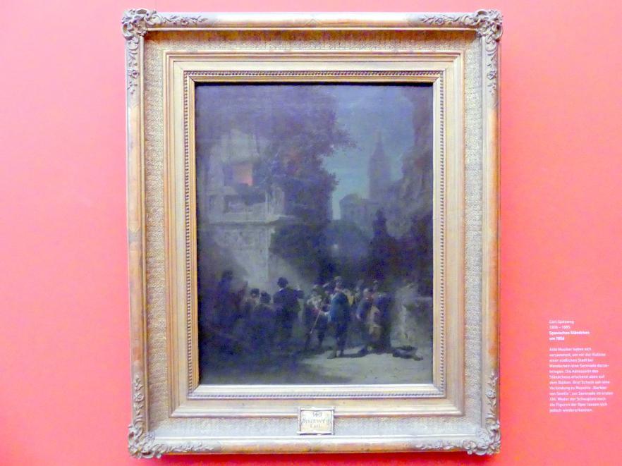 Carl Spitzweg: Spanische Ständchen, Um 1856
