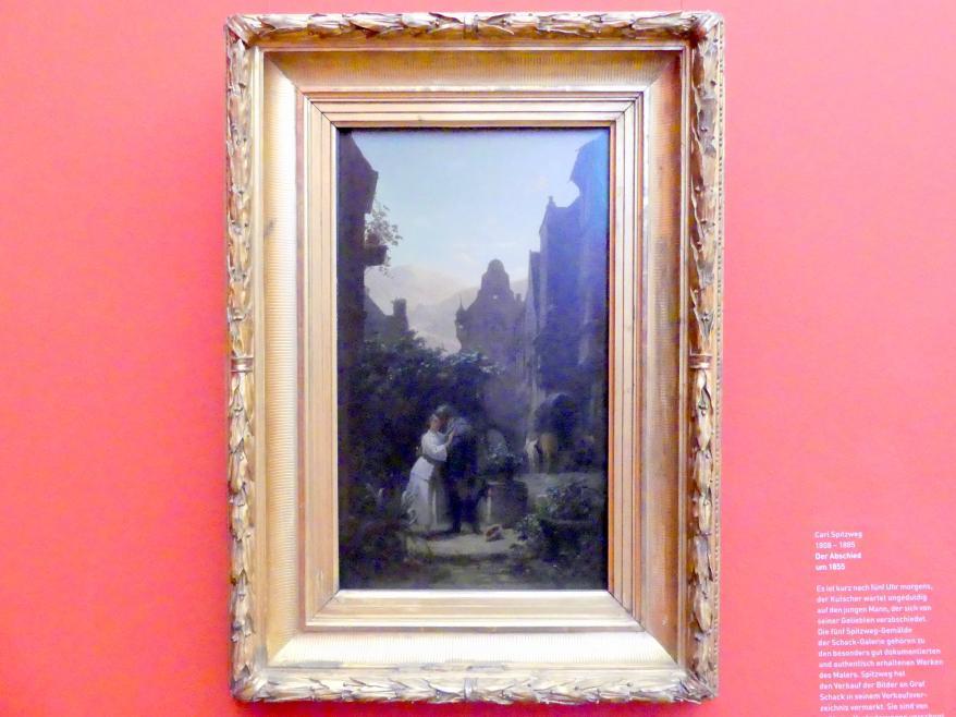 Carl Spitzweg: Der Abschied, Um 1855
