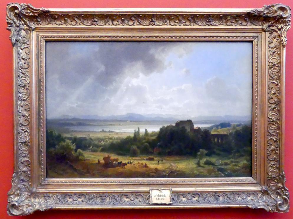 Eduard Schleich der Ältere: Ansicht des Starnberger Sees, Um 1862
