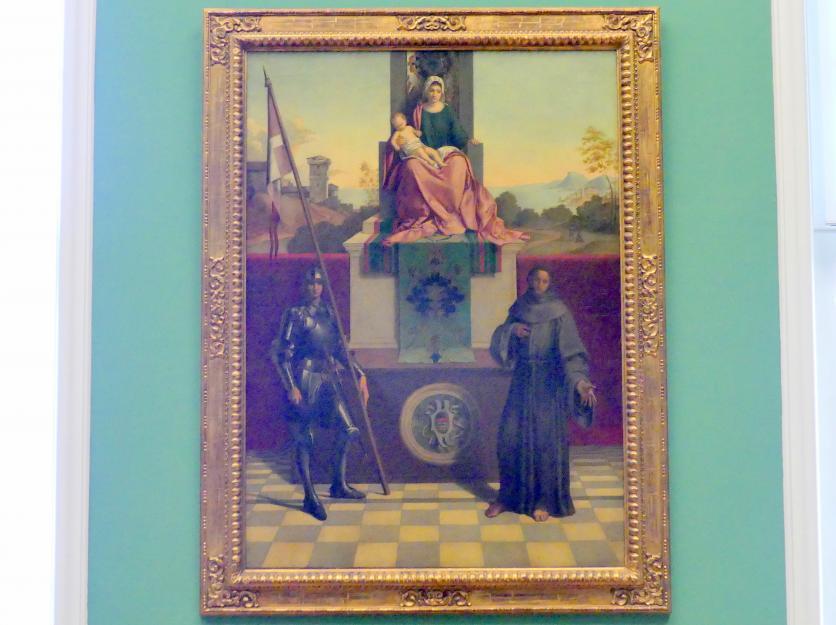 August Wolf: Thronende Madonna mit den hll. Liberalis und Franziskus, 1876