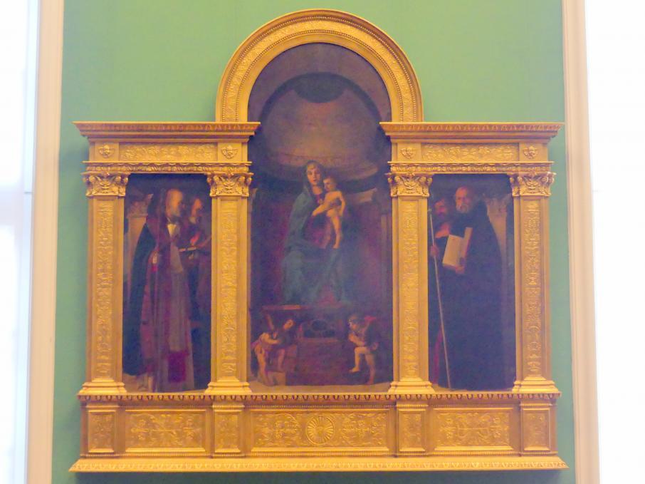August Wolf: Thronende Madonna mit Engeln und Heiligen, 1871