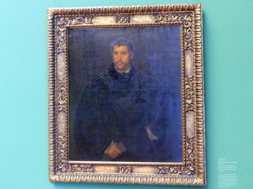 Franz von Lenbach: Bildnis eines jungen Mannes (Der junge Engländer), Um 1865