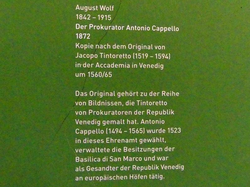 August Wolf: Der Prokurator Antonio Cappello, 1872, Bild 2/2