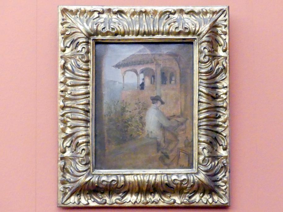 Franz von Lenbach: Der Tocador de la Reina auf der Alhambra in Granada, 1868