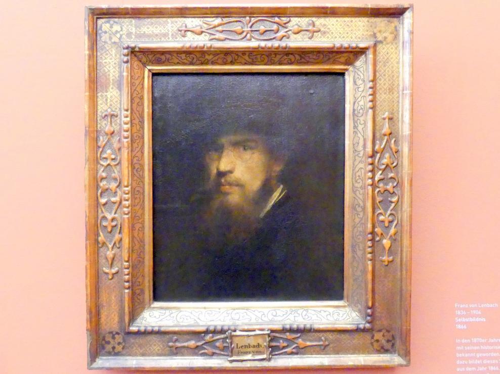 Franz von Lenbach: Selbstbildnis, 1866