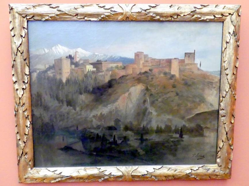 Franz von Lenbach: Die Alhambra in Grenada, 1868
