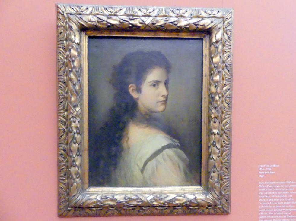 Franz von Lenbach: Anna Schubart, 1867