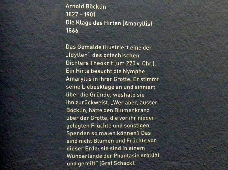 Arnold Böcklin: Die Klage des Hirten, 1866