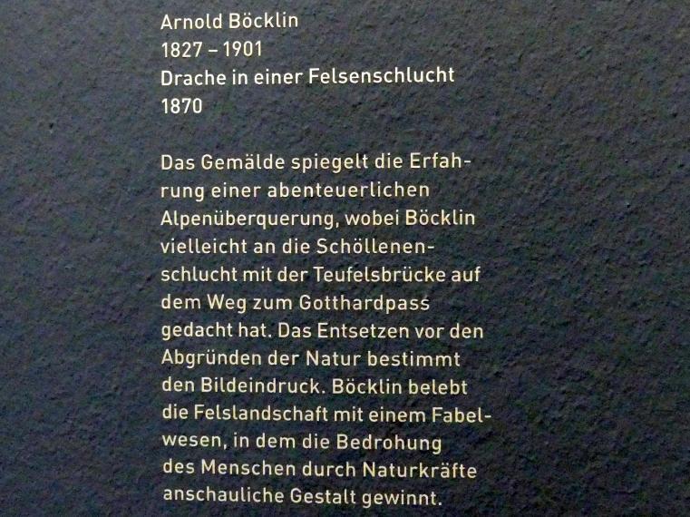 Arnold Böcklin: Drache in einer Felsenschlucht, 1870