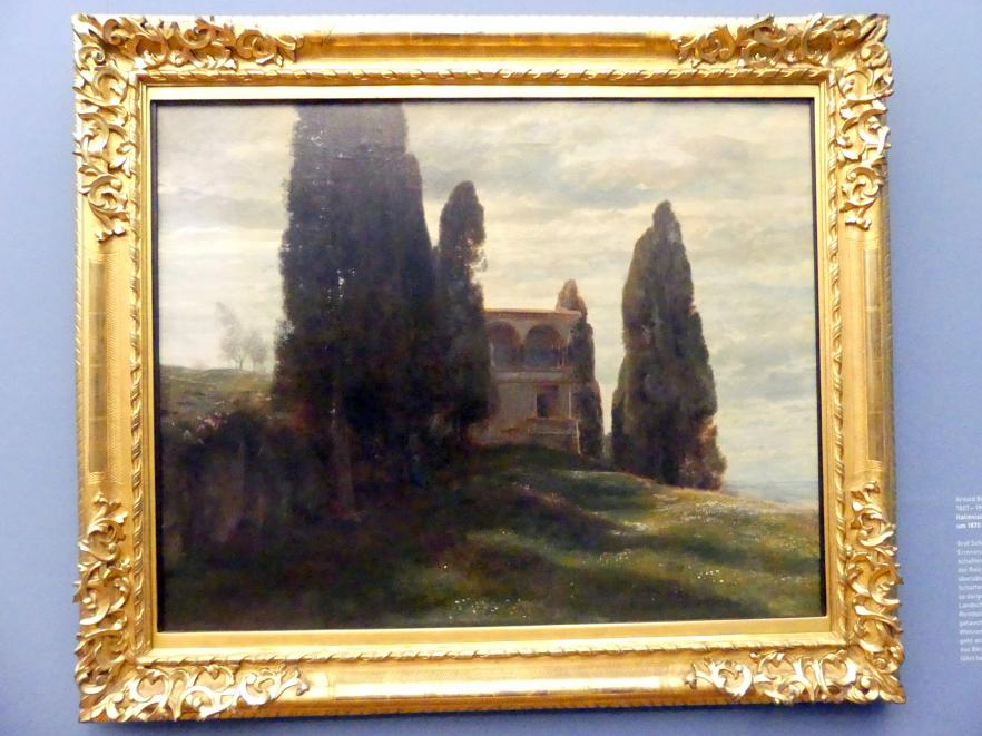 Arnold Böcklin: Italienische Villa im Frühling, Um 1870
