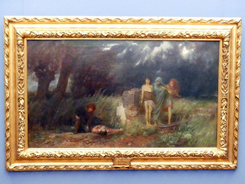 Arnold Böcklin: Ein Mörder, von Furien verfolgt, 1870