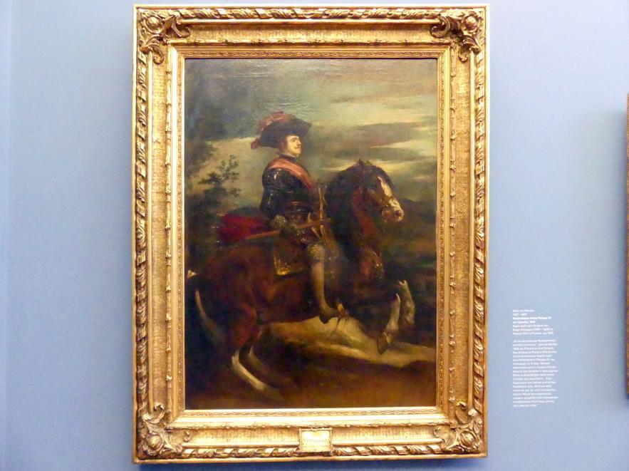Hans von Marées: Reiterbildnis König Philipps IV. von Spanien, 1865
