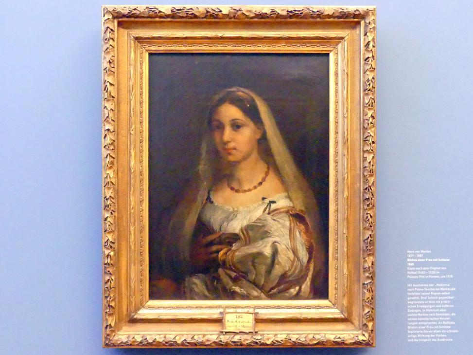 Hans von Marées: Bildnis einer Frau mit Schleier, 1865