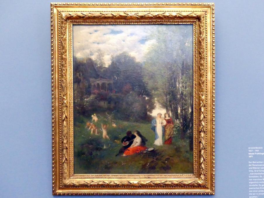 Arnold Böcklin: Ideale Frühlingslandschaft, 1871
