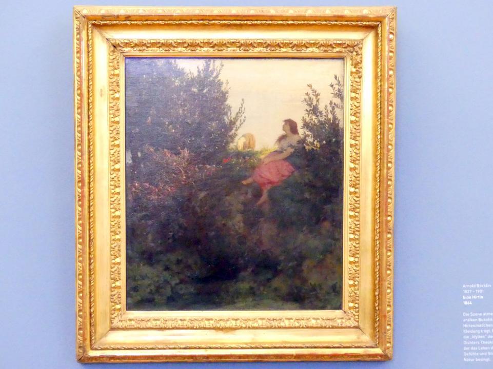 Arnold Böcklin: Eine Hirtin, 1864