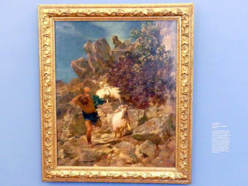 Arnold Böcklin: Pan erschreckt einen Hirten, Um 1860
