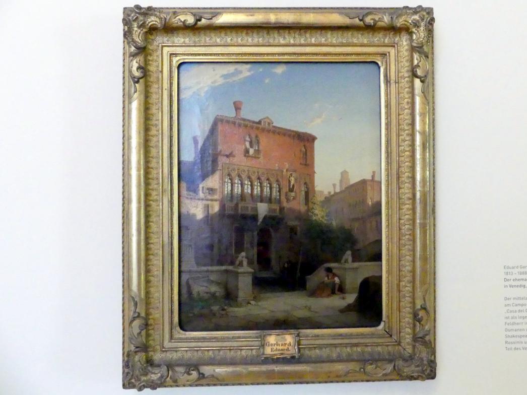Eduard Gerhardt: Der ehemalige Palazzo Moro in Venedig, 1863