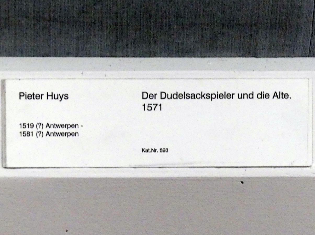 Pieter Huys: Der Dudelsackspieler und die Alte, 1571
