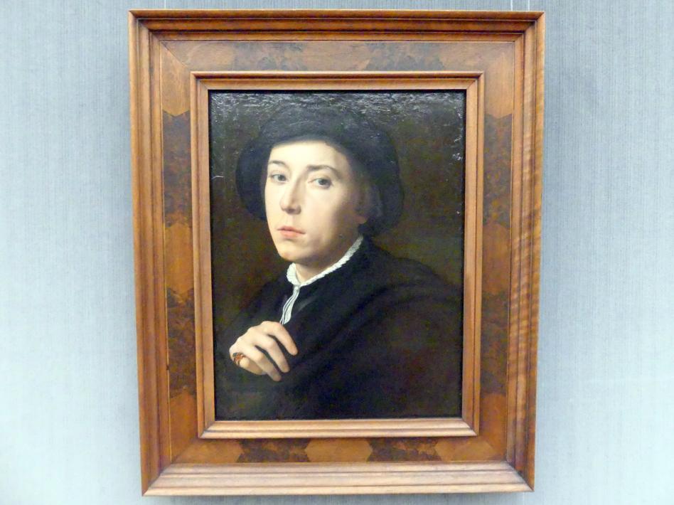 Willem Adriaensz Key: Bildnis eines jungen Mannes mit schwarzem Barett, Undatiert